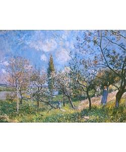 Alfred Sisley, Der Baumgarten. 1881.