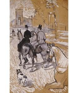 Henri de Toulouse-Lautrec, Reiter auf dem Weg zum Bois du Bolougne. 1888