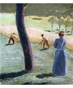 August Macke, Arbeiter auf dem Feld bei Kandern. 1907