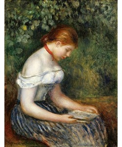 Auguste Renoir, Die Lesende (Sitzendes junges Mädchen). 1887