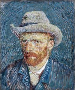 Vincent van Gogh, Selbstbildnis mit grauem Filzhut. 1887-88