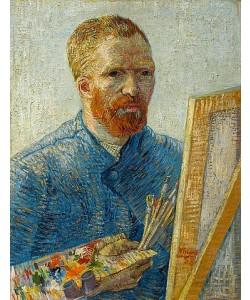 Vincent van Gogh, Selbstbildnis vor der Staffelei. 1888