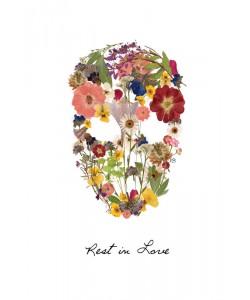 Victoria Brown, FLOWERS SKULL I