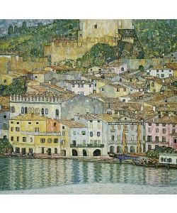 Gustav Klimt, Malcesine am Gardasee. 1913 (Aufnahme eines Lichtdrucks nach dem 1945  im Schloß Immendorf verbrannten Original)