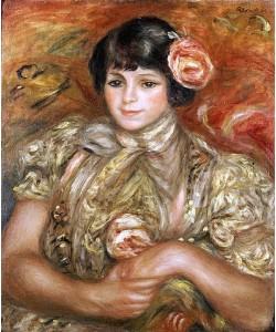 Auguste Renoir, Mädchen mit Rose.