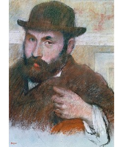 Edgar Degas, Selbstbildnis.
