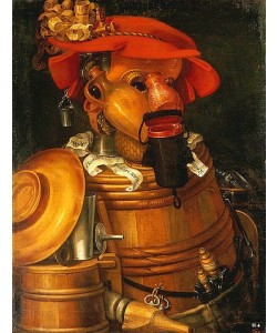 Giuseppe Arcimboldo, Der Kellner. 1574