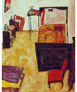 Egon Schiele, Mein Wohnzimmer. (Das Zimmer des Künstlers in Neulengbach). 1911