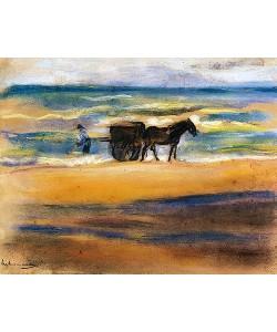Max Liebermann, Muschelsucher am Strand.