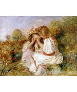 Auguste Renoir, Zwei kleine Mädchen (Deux Fillettes). Um 1890