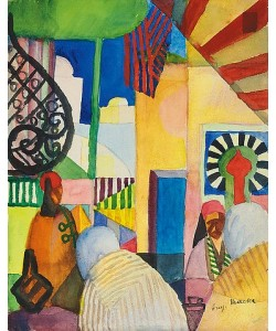 August Macke, Im Bazar. 1914
