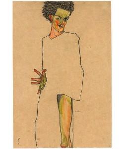 Egon Schiele, Selbstbildnis. 1910