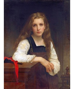 William Adolphe Bouguereau, Die kleine Spinnerin.
