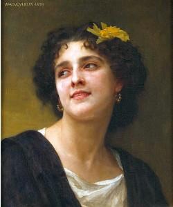 William Adolphe Bouguereau, Eine dunkle Schönheit.