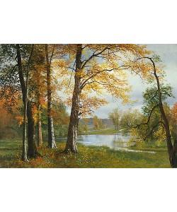 Albert Bierstadt, Ein ruhiger See.