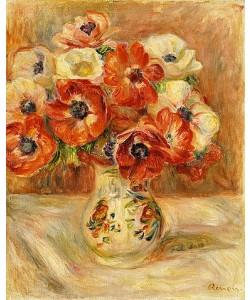 Auguste Renoir, Stillleben mit Anemonen.