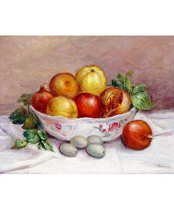 Auguste Renoir, Stillleben mit Granatapfel.