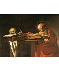 Michelangelo Merisi da Caravaggio, Der heilige Hieronymus schreibend. Um 1604