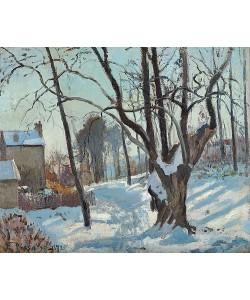 Camille Pissarro, Schneelandschaft in Louveciennes (Louveciennes, Chemin de Creux, Louveciennes, neige). 1872
