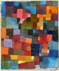 Paul Klee, Raumarchitekturen (auf kalt-warm). 1915
