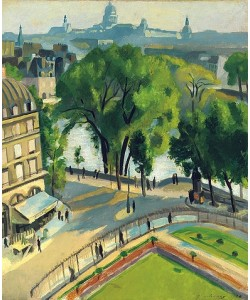 Robert Delaunay, Ansicht des Quai du Louvre. 1928