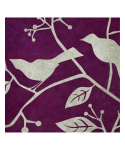 Kristin Emery, BIRDS & LEAVES PURPLE II