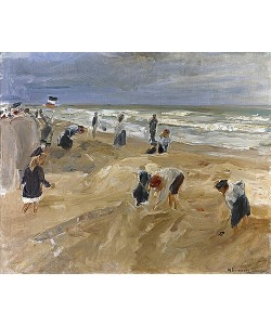 Max Liebermann, Strandscene in Noordwijk. 1908