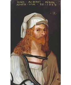 Albrecht Dürer, Bildnis Albrecht Dürers (im Ausschnitt nach Dürers Selbstportrait).