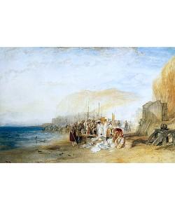 Joseph Mallord William Turner, Hastings: Frühmorgendlicher Fischmarkt am Strand. 1822
