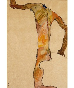 Egon Schiele, Männlicher Akt. 1910