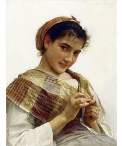 William Adolphe Bouguereau, Ein bretonisches Mädchen. 1889