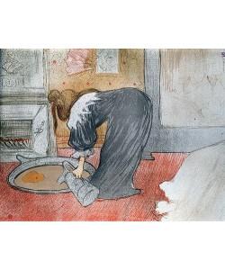 Henri de Toulouse-Lautrec, Frau am Wasserzuber. Aus der Serie 'Elles'. 1896
