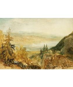 Joseph Mallord William Turner, Farnley Hall von über Otley aus gesehen.