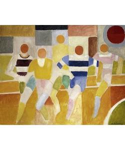 Robert Delaunay, Die Läufer (Les Coureurs). 1926