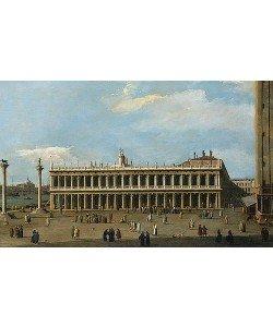 Canaletto (Giovanni Antonio Canal), Die Biblioteca Marciana und die Piazzetta in Venedig.