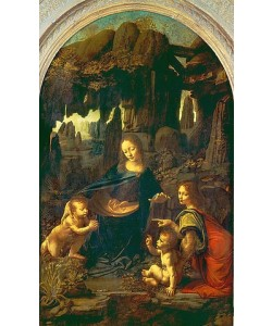 Leonardo da Vinci, Die Felsgrottenmadonna.