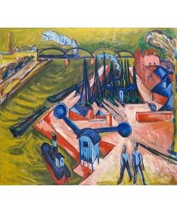 Ernst Ludwig Kirchner, Westhafen in Frankfurt am Main. 1916