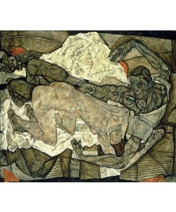 Egon Schiele, Liebespaar (Mann und Frau I). 1914