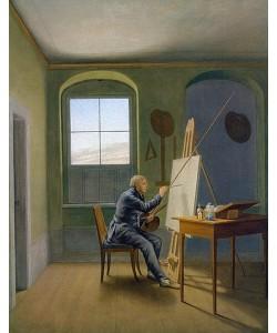 Georg Friedrich Kersting, Caspar David Friedrich im Atelier. 1819.