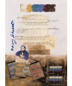 Hussey James Schubert (Monotypie, handsigniert)