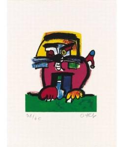 Alt Otmar Löwe (1993) (Carborundum-Radierung, handsigniert)