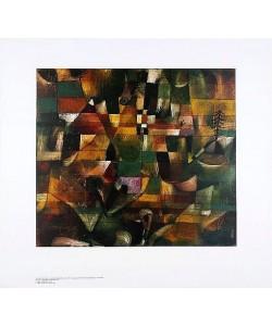 Paul Klee, Landschaft mit gelbem Kirchturm (Offset)