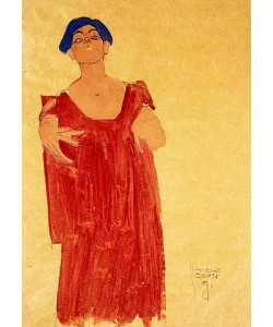 Egon Schiele, Frau mit blauem Haar. 1908