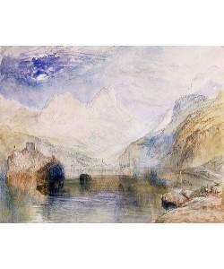 Joseph Mallord William Turner, Der Lauerzersee im Kanton Schwyz, den Mythen im Hintergrund.