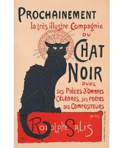 Théophile-Alexandre Steinlen, Die schwarze Katze (Le Chat Noir). Plakat für das Kabarett am Montmartre. 1896