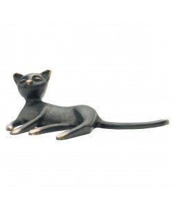 Kerstin Stark, Katze, liegend, 5 x 13 x 7cm
