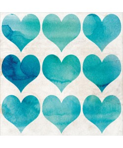 Kimberly Allen, WATERCOLOR HEARTS II