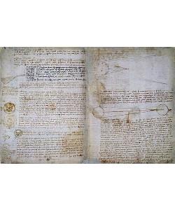 Leonardo da Vinci, Der Codex Hammer, auch bekannt als Codex Leicester (Seiten 49-50).