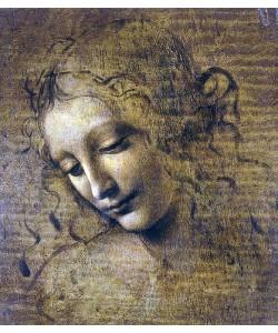 Leonardo da Vinci, Kopf eines Mädchens. 15. Jh.