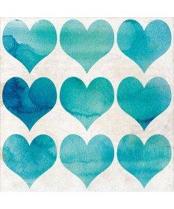 Kimberly Allen, WATERCOLOR HEARTS II